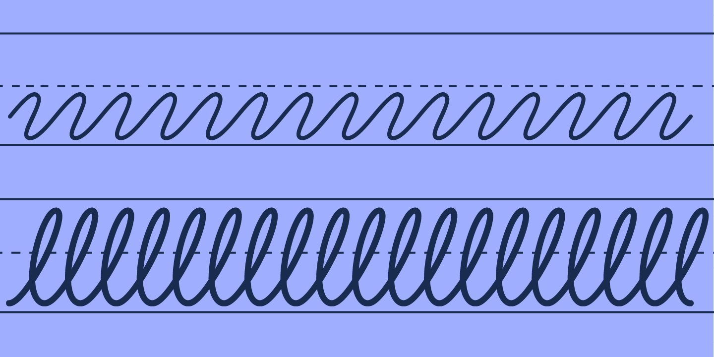 examples of the Learning Curve Ruled typeface