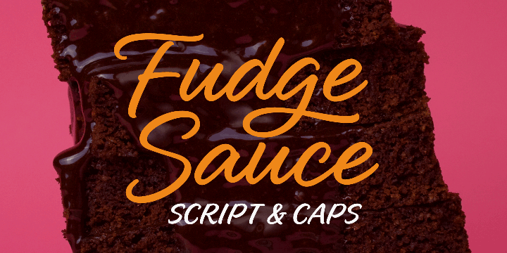 Poster displaying the Fudge Sauce typeface