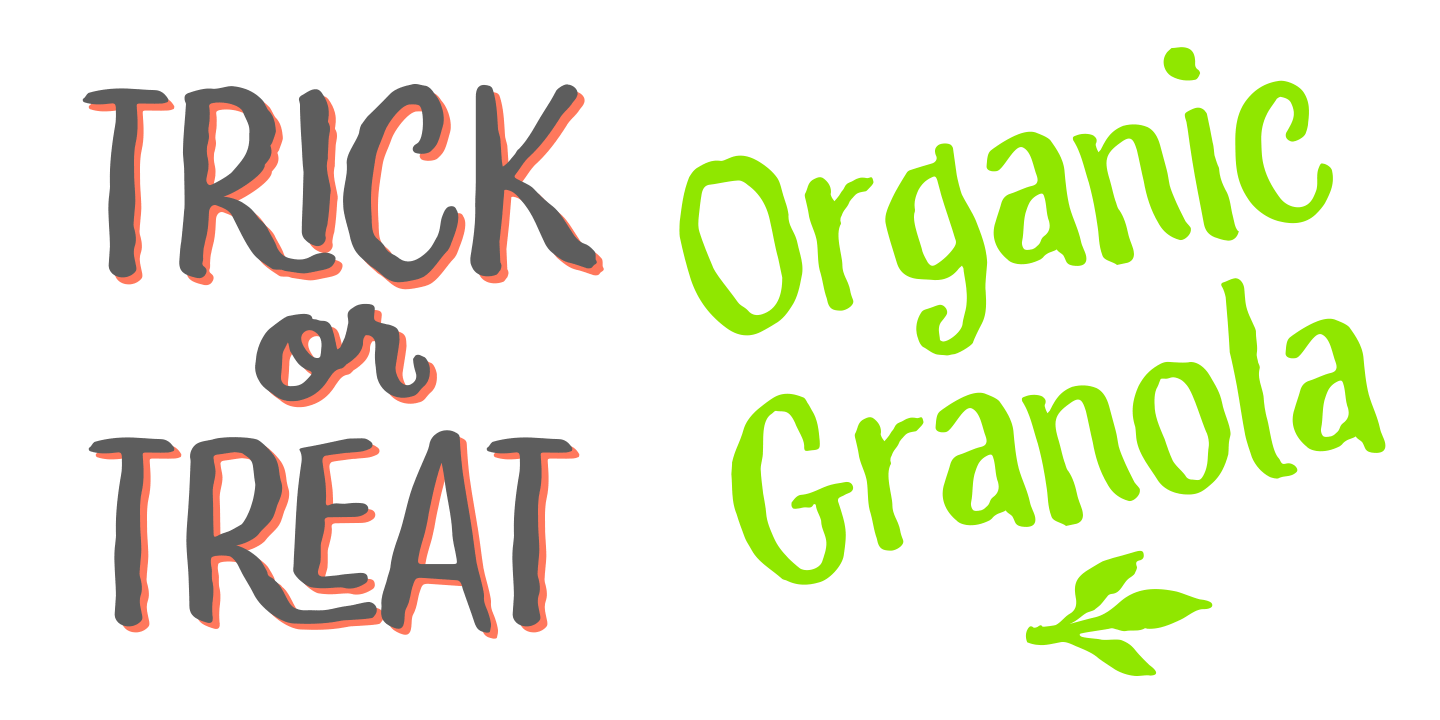 examples of the Yeah But When I Do It typeface