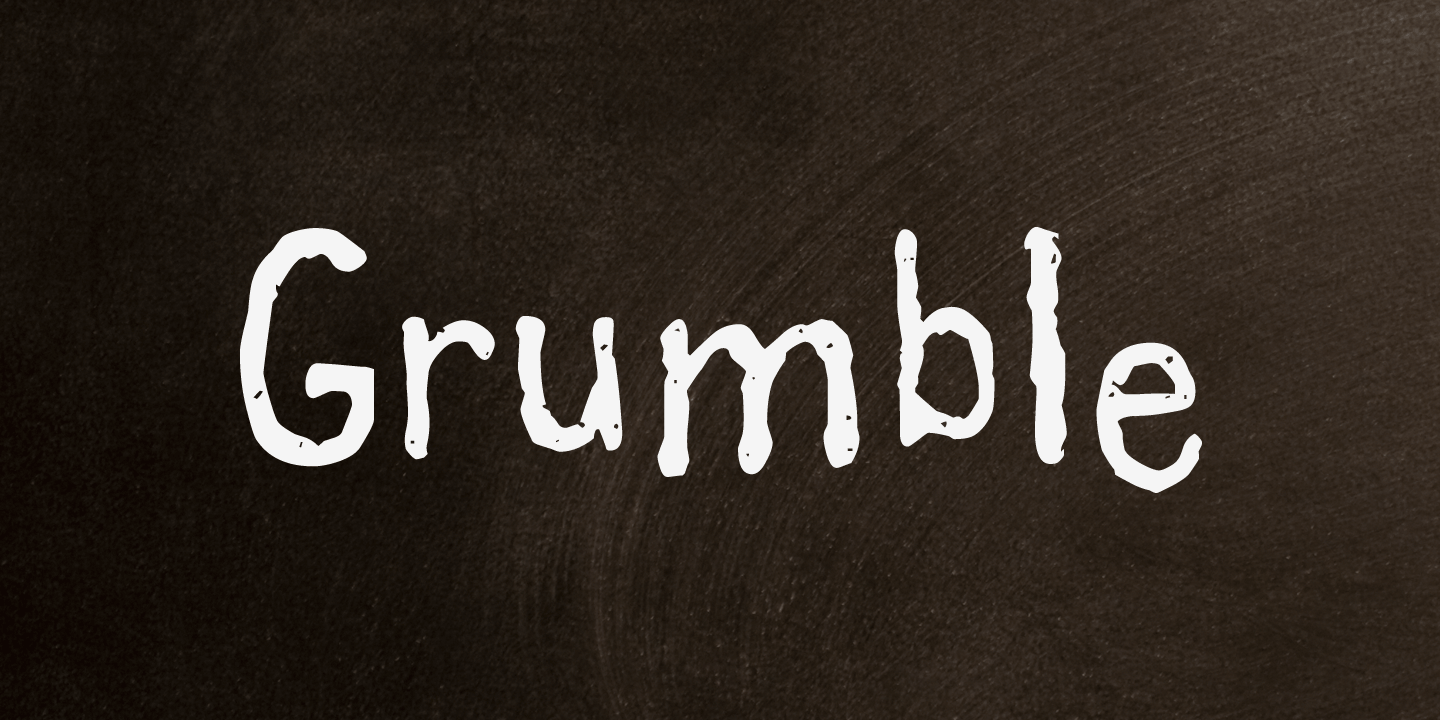examples of the Grumble typeface