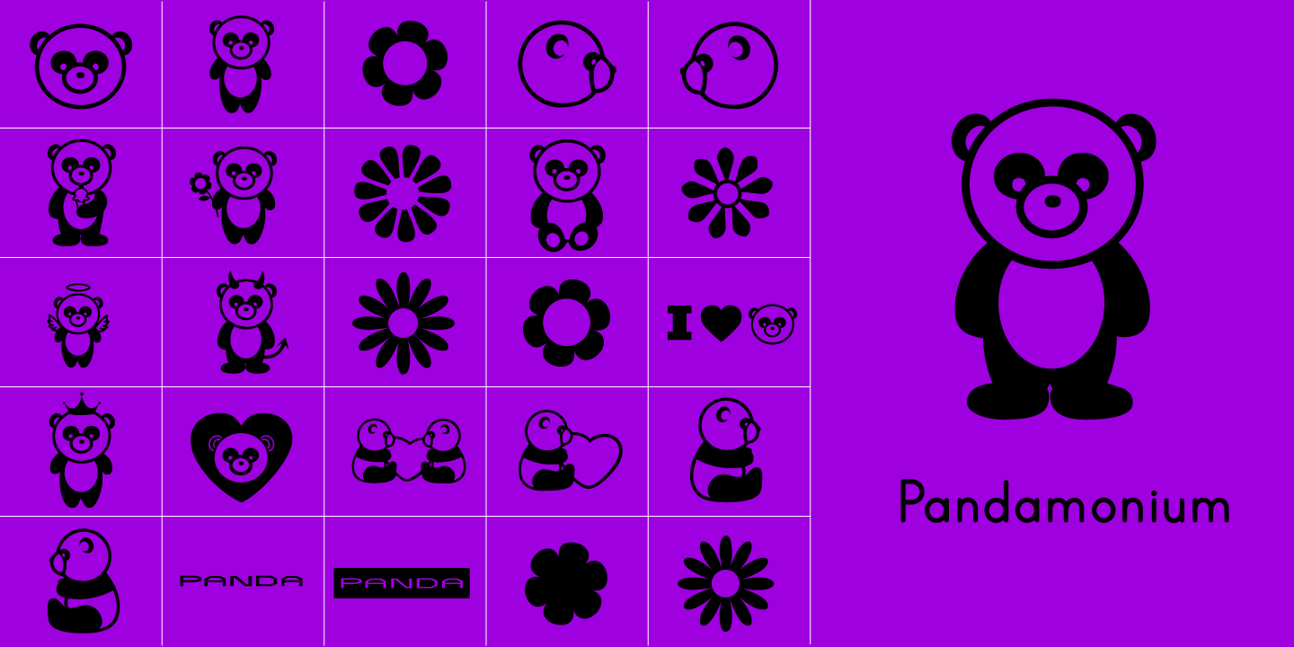 examples of the Pandamonium typeface