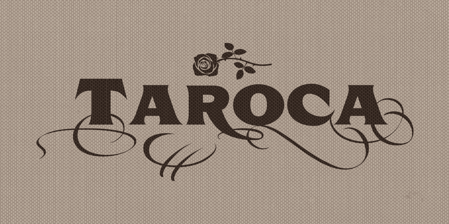 examples of the Taroca typeface