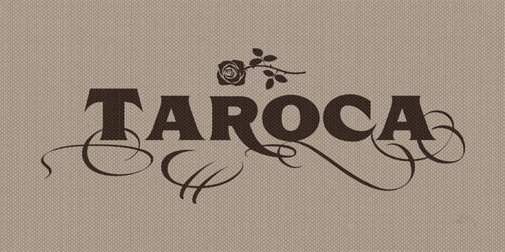 Promotional graphic for the Taroca typeface