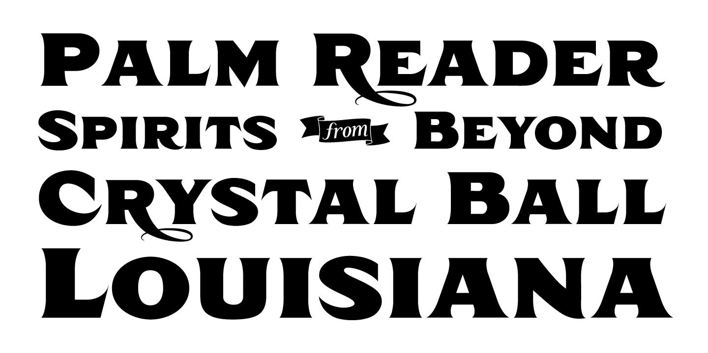 examples of the Taroca typeface