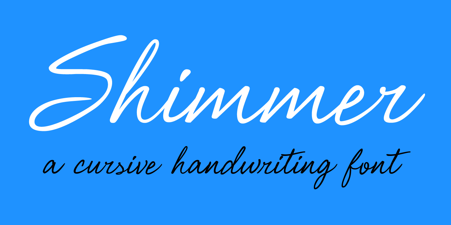 examples of the Shimmer typeface