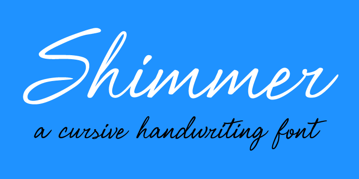Promotional graphic for the Shimmer typeface
