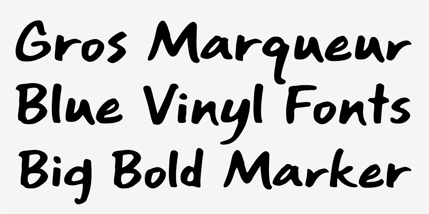 examples of the Gros Marqueur typeface