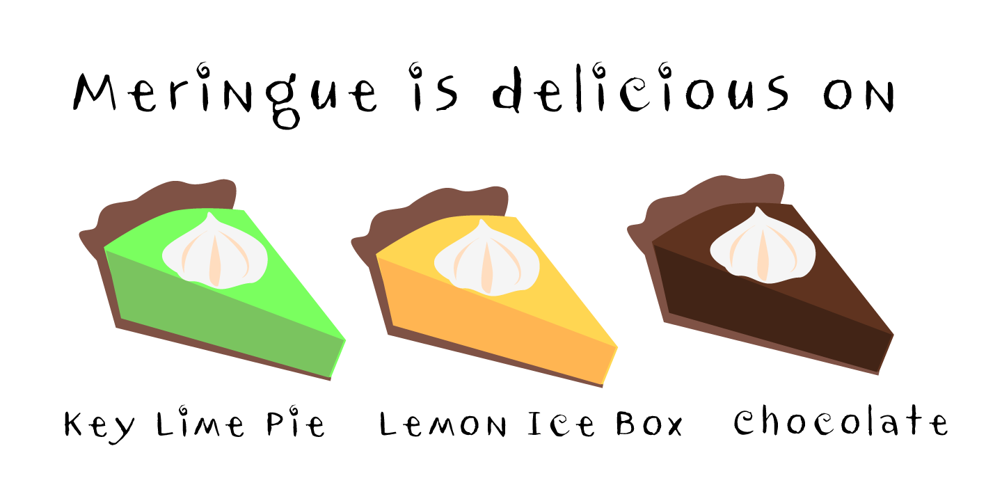 examples of the Meringue typeface