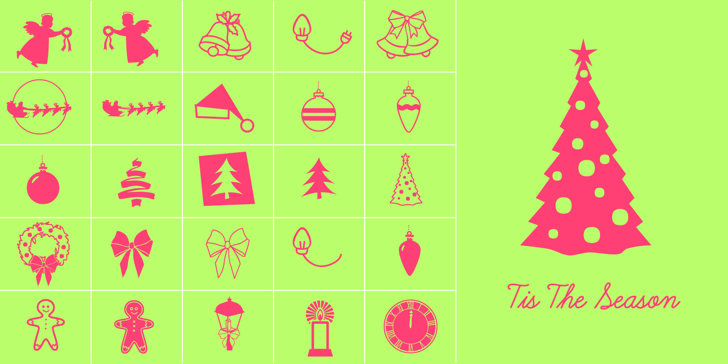 examples of the Tis The Season typeface
