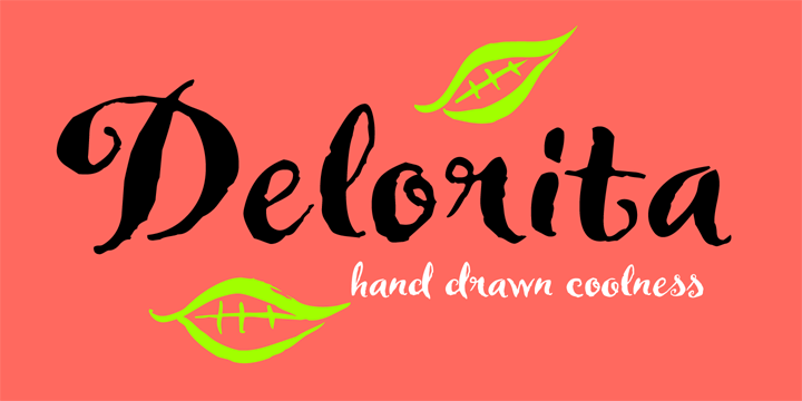 Promotional graphic for the Delorita typeface