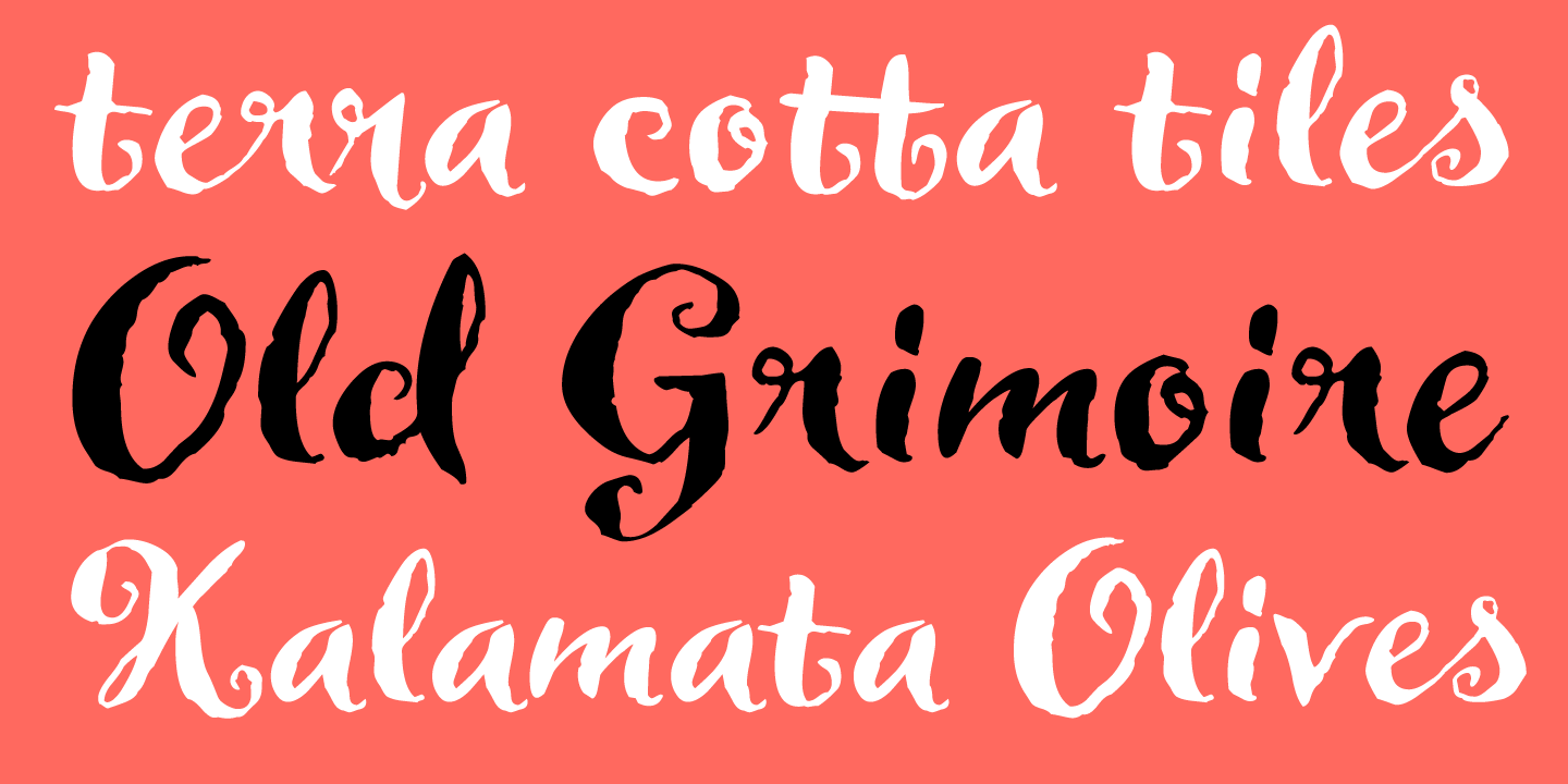 examples of the Delorita typeface