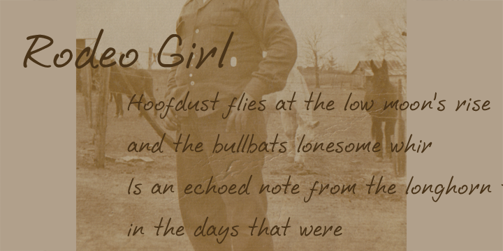 Promotional graphic for the Rodeo Girl typeface