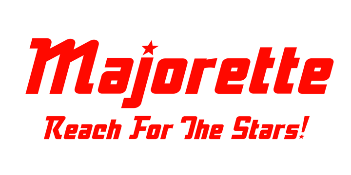 Promotional graphic for the Majorette typeface