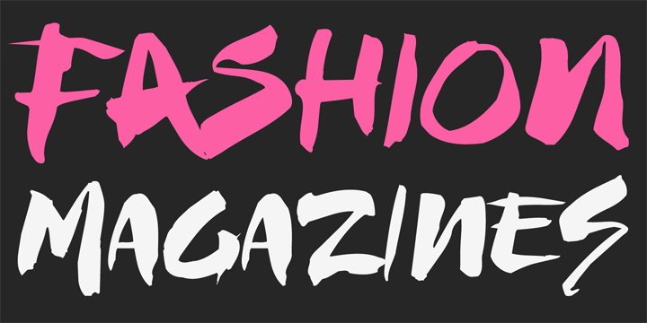 Promotional graphic for the Fashionista typeface
