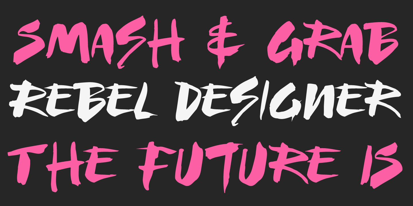examples of the Fashionista typeface