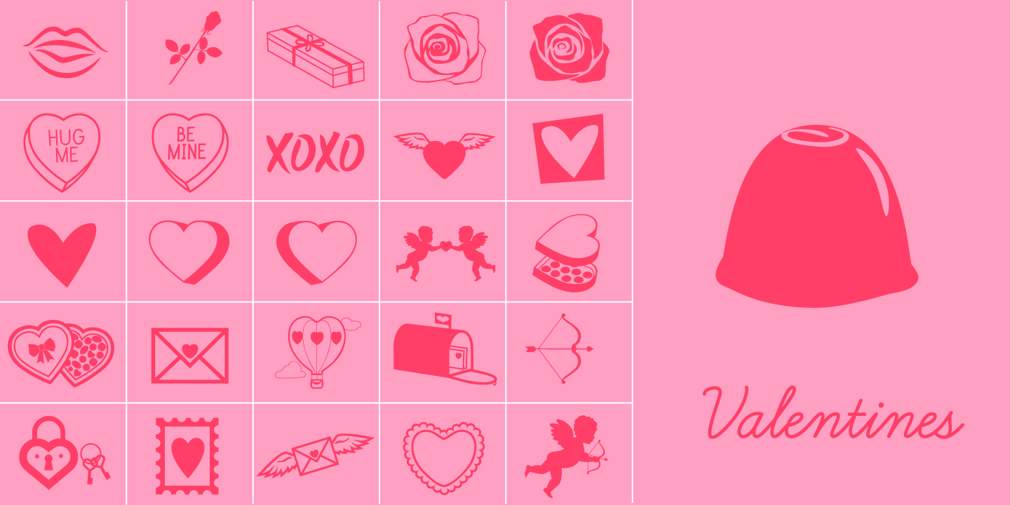 examples of the Valentines typeface