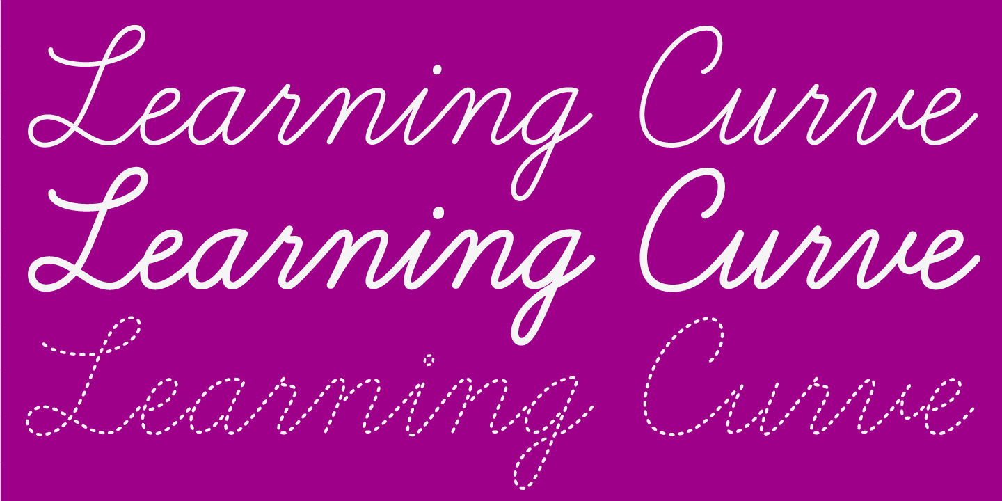 examples of the Learning Curve 4.0 typeface