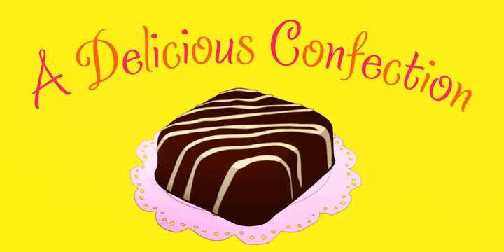 Promotional graphic for the Confection typeface