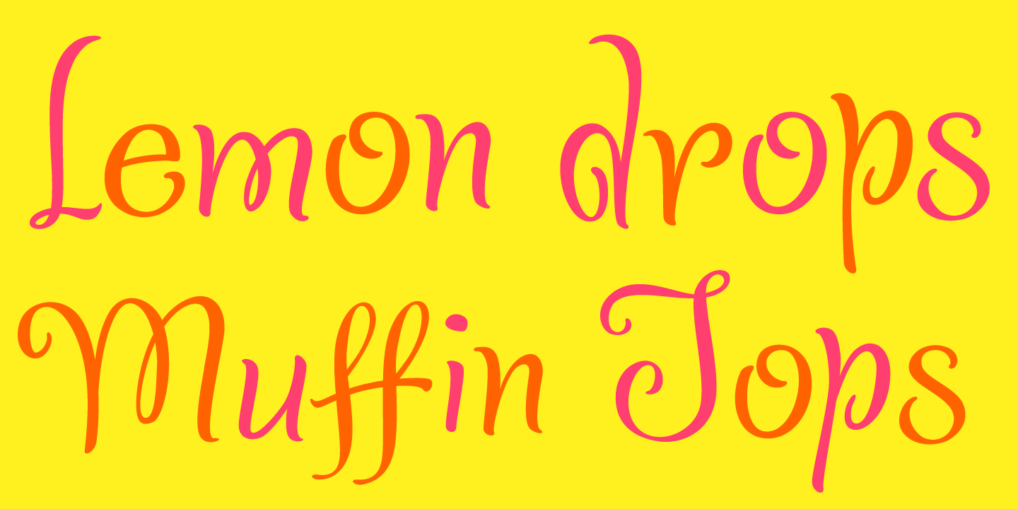 examples of the Confection typeface