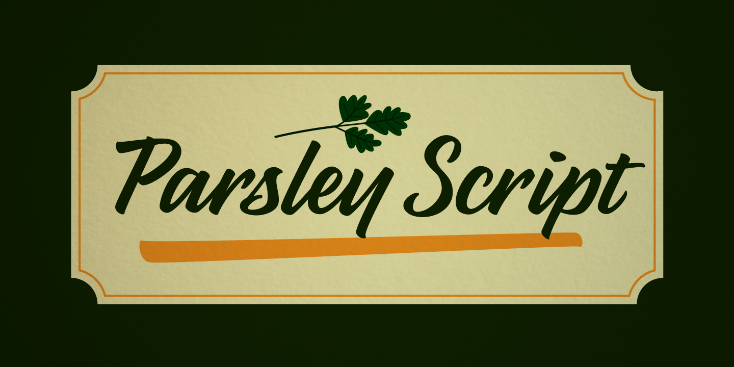 examples of the Parsley Script typeface
