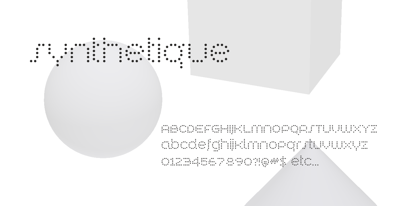 examples of the Synthetique typeface