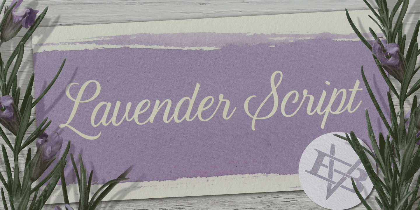 examples of the Lavender Script typeface
