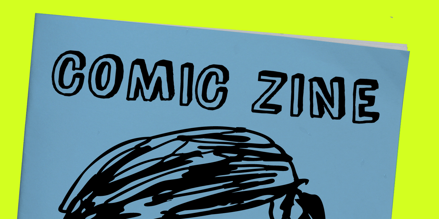 examples of the Comic Zine 2.0 typeface