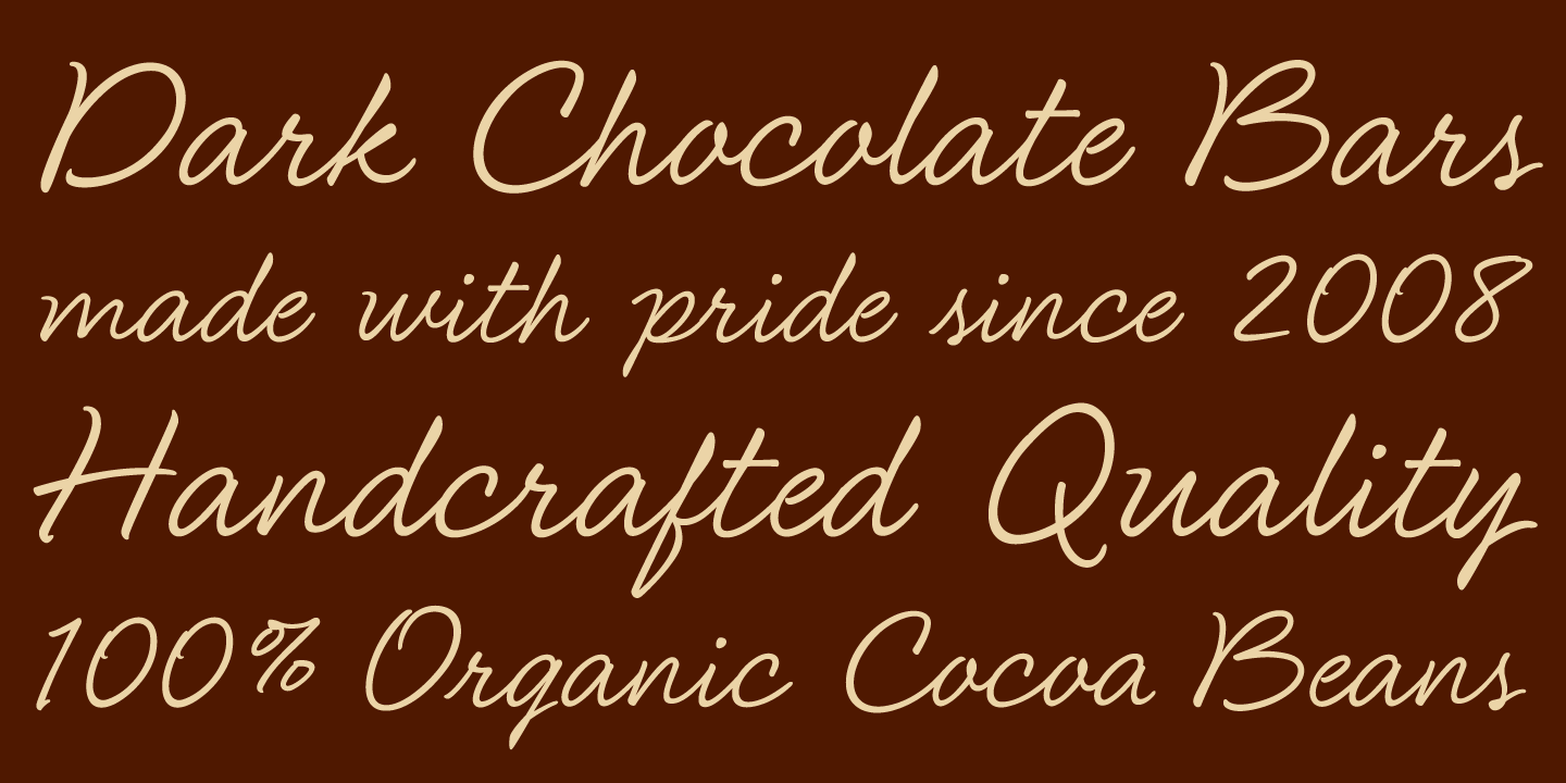 examples of the Secret Admirer typeface