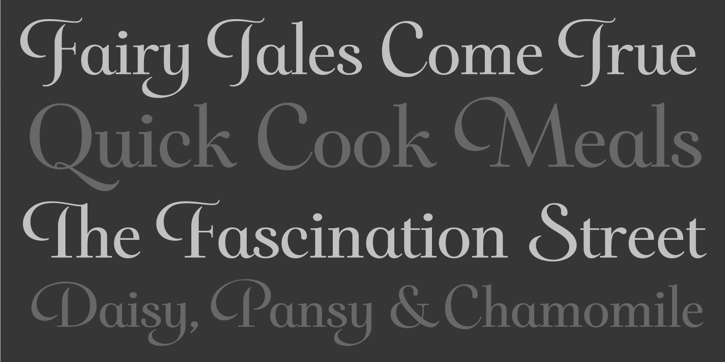 examples of the Darlena typeface