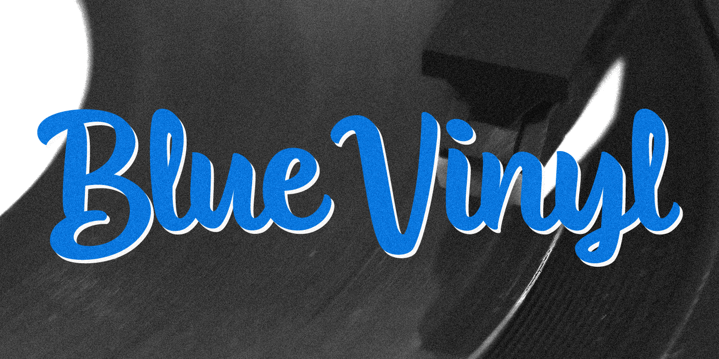 examples of the Blue Vinyl typeface